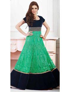 Fetching Sea Green Anarkali Salwar Suit