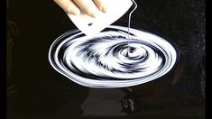 (453) BLACK&WHITE ~ Awesome SPLIT CUP pour ~ Acrylic pour painting ~ Rel...