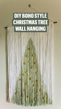 Macrame Wall Hanging Diy, Wall Hanging Crafts, Christmas Crafts, Christmas Decorations, Xmas, Yarn Wall Art, Crochet Wall Hangings, Macrame Projects, Ideas