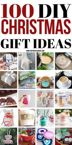 Nothing beats handmade. Here are 100 DIY Christmas Gift Ideas that would make an extra special gift for friends and family this year. Add a personal touch to your holiday gift giving by making one of these gorgeous DIY Holiday Gifts.