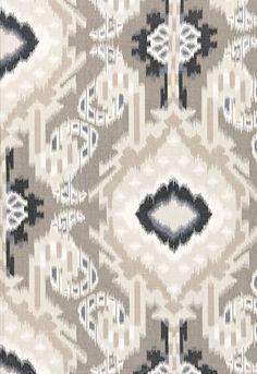 Kiribati Ikat Print Linen 174981 by Schumacher Fabric - Fabric Carolina