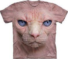 Big Face Hairless Cat T-Shirt