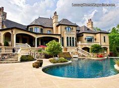 Luxury Home Magazine Charlotte #Luxury #Homes #Pools #Backyards #Estates #Architecture #Houses