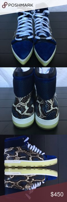 Jimmy Choo snakeskin shoes Like new. Comes with original box Jimmy Choo Shoes Sneakers