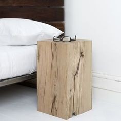 Wood Block Stool   Flickr - Photo Sharing!