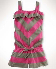 Ralph Lauren Kids Romper, Little Girl Striped Romper - Kids Girls 2-6X - Macy's  @Taylor Joelle Designs  #taylorjoellekidsdreamcloset