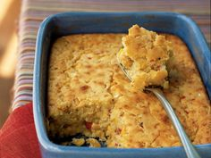 This moist, sweet-savory side dish is a cross between corn bread and corn pudding. You can use 1 1/2 cups fresh corn kernels in place of...