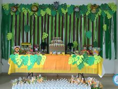 Jungle Theme Birthday, Baby Boy 1st Birthday Party, Safari Theme Party, Safari Birthday Party, Jungle Party, Birthday Decorations, Baby Shower Decorations, Lion King Baby Shower, Baby Shower Safari