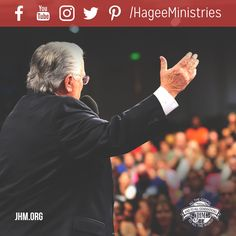Our purpose at John Hagee Ministries is to bring the lost to Jesus Christ while encouraging those who are already believers. We're thankful for social media which helps us stay connected to our brothers and sisters around the world. #Jesus #Connect #SocialMedia #FollowFriday #Encourage #HageeMinistries