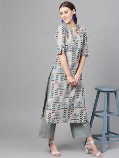 Printed Kurti Designs, Silk Kurti Designs, Simple Kurta Designs, Churidar Designs, Kurta Designs Women, Kurti Designs Party Wear, Latest Kurta Designs, Latest Kurti, Sleeves Designs For Dresses