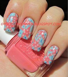 Tips and Topcoat: starfish beachy nail art