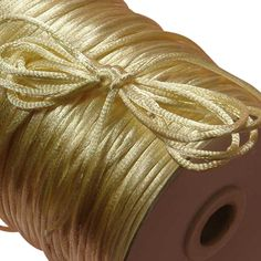 One Hundred Feet of IVORY SATIN Rattail Cord ~ New. Black 1 & Cord also available! This cord is in size. Macrame Cord, Fabric Ribbon, Arts And Crafts Supplies, Amazon Art, Sewing Stores, Twine, Sewing Crafts, Craft Projects, Braids