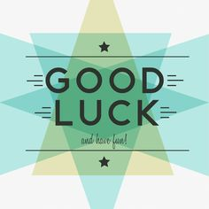 Good luck!   http://www.eventure.com  #design #cards #goodluck #blending #blue