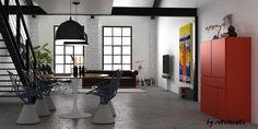 Muebles con color para el salón #Small&lowcost http://blgs.co/j1EVA3