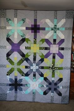 Wedding quilt for my best friend, based on the Supernova design from Freshly Pieced  http://freshlypieced.blogspot.com/2011/03/supernova-quilt-along-join-me.html
