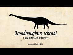 "▶ New DINOSAUR discovered ""Dreadnoughtus schrani"" in Patagonia, Argentina by Dr. Ken Lacorvara (Drexel University) 2014-09 • 65T! (13 bull African elephants) • last biggest discovery was Argentinosaurus but only with backbone found, Dreadnoughtus discovery is most complete (45%) skeleton of a massive herbivorous titanosaur • named after early 20C battleships as ""fears nothing"""