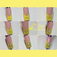 #nail #nails #nailart #nailpassopasso #nailspongebob #sopngebob