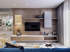 Chị Hoa - jamona - warm house on Behance Living Room Tv Unit Designs, Interior Design Living Room, Living Room Decor, Tv Unit Furniture, Furniture Design, Furniture Online, Bedroom Tv Wall, Decor Around Tv, Muebles Living