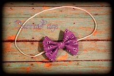 purple hair bow fabric bow hair bow headband by CeannaPaige Fabric Bow Headband, Fabric Bows, Purple Hair, Hair Bows, Unique Jewelry, Handmade Gifts, Vintage, Etsy, Ribbon Hair Ties