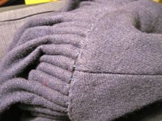Houppelande - Sleeve detail by catcetera, via Flickr Cartridge pleated sleeves