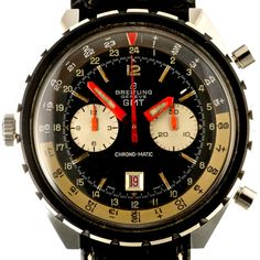 1970 Breitling Chrono-Matic GMT ref.  2115 24 hour dial by Timeline Watch