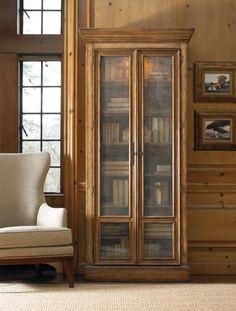European Artistry Bookcase W/Wire Doors
