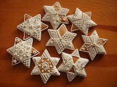 Torty vianočné Xmas, Christmas Stars, Cookie Decorating, Food Art, Christmas Cookies, Cookie Recipes, Gingerbread, Holiday Decor, Crack Crackers