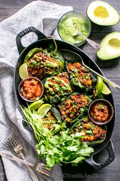 Fabulous for weekend or weeknight. Mealprep included! Roasted Stuffed Poblanos with Smoky Quinoa, Sweet Potatoes and Black Beans | Vegan + Gluten Free #Sponsored
