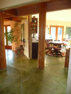 concrete floors -- radiant floor heating