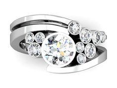 Imagine this with Diamonds, Moissanite, or any combo of colored gems...stunning