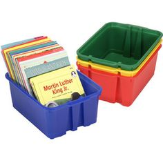 Classroom Stacking Bins - Primary Colors $20 for 4