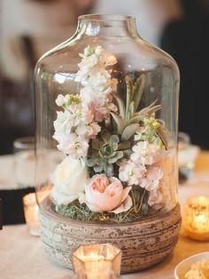arreglos florales originales con velas para mesas - Buscar con Google