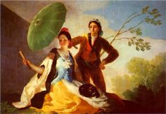 The Parasol - Francisco Goya, Romanticism, 1777