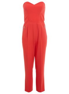 Combi-pantalon bustier rouge - Combi-shorts et combi-pantalons - Vêtements - Miss Selfridge France