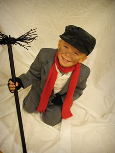 Chimney Sweep,With a secondhand suit, some fleece, and some pipe cleaners, the Chimney Sweep costume.