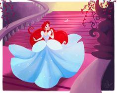 Ariel as Cinderella