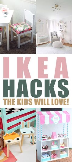 IKEA Hacks the Kids Will Love Check out all of these budget friendly . fabulously fun and useful IKEA Hack creations that the Kids will Love! From a Wall of Knobs to totally organize a room to a Play Store! Ikea Kids Table, Ikea Kids Room, Kid Table, Kids Bedroom, Kids Rooms, Ikea Hacks, Ikea Hack Kids, Hacks Diy, Ikea Book