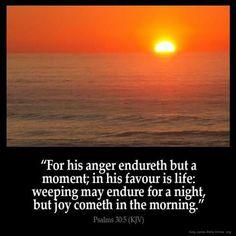 Psalms 30:5 KJV