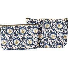 @knittedbelle #knittedbelle RockFlowerPaper Cosmetic Bag Set - Blue