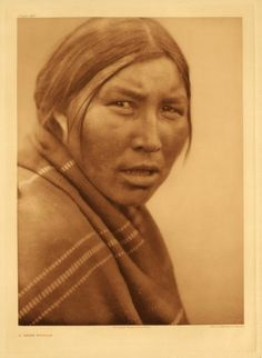 1920 photograph of a Cree Indian woman