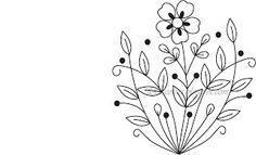 Flora's Colors: Free Hand Embroidery Pattern---Flower and Leaves
