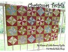 Christmas Twirls Quilt « Moda Bake Shop- 42x49- 2 charms