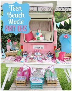 Teen Beach Movie Party - If the celebrant is a teenager then you just might want to consider changing the theme a bit. While very colorful displays are good for children's parties, you might just want to stick to a few colors when it comes to teenage parties. Loud colors like yellow and orange should be kept to a minimum.