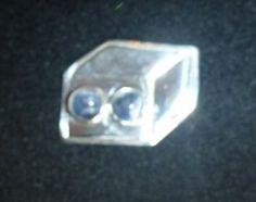 Couveuse, hanger of broche, zilver met 2 6 mm sodaliet