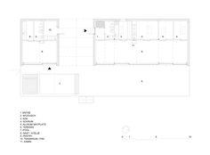 Image 16 of 23 from gallery of Summerhouse Lagnö / Tham & Videgård Arkitekter. Photograph by Tham & Videgård Arkitekter 3 Bedroom Floor Plan, Stockholm Archipelago, Wooden Cottage, Arch House, Heart Of Europe, Prefabricated Houses, Historic Properties, Architect House, Technical Drawing
