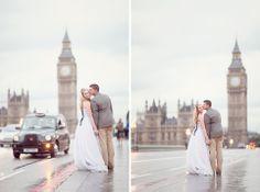 Pretty london wedding shoot near Big Ben!  plus a black cab :)