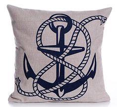 Caryko Home Decor Cotton Linen Square Throw Pillow Case Cushion Cover (Anchor) Caryko http://www.amazon.com/dp/B00YV21CCI/ref=cm_sw_r_pi_dp_gPhCvb1S93JS5
