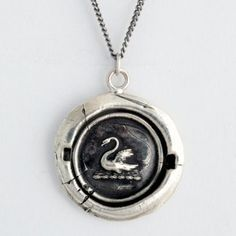 Emma's Swan necklace