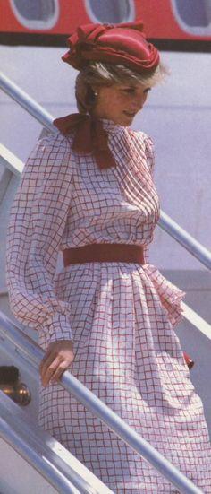 Diana arriving in Canada June 1983