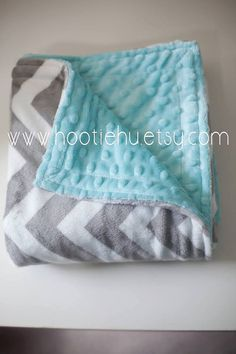 Tiffany & Chevron Minky Baby Blanket CUSTOM MADE on Etsy